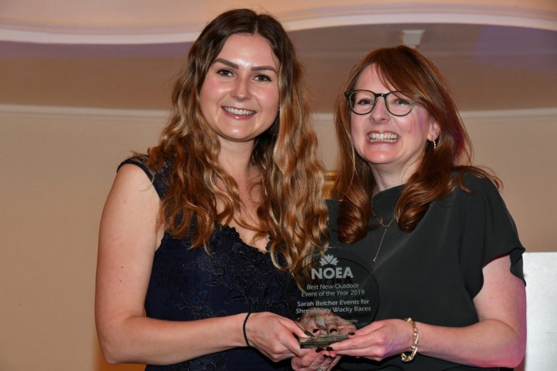 Sarah Belcher Events picked up the NOEA award at a special ceremony held in Bath