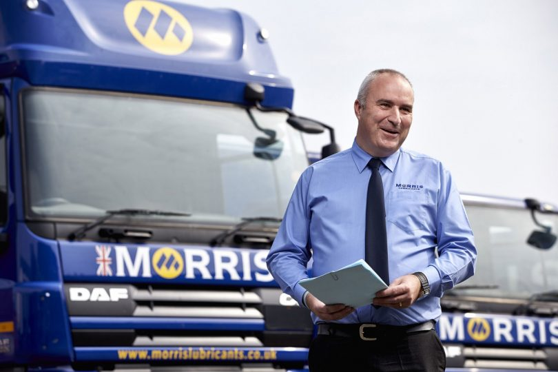 Morris Lubricants' transport manager Graham Fewtrell