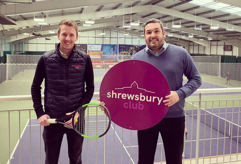 Jon Gidney, left, The Shrewsbury Club's marketing manager, with Chris Jones from Reclaim Tax UK