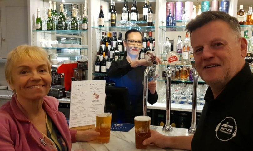 Pictured sampling the new beer, from left Councillor Karen Sawbridge, Lorna Walker of The Falcon and Steve Farrell of Bridgnorth Brewery