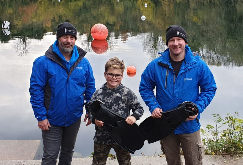 Eddie has become the youngest scholar to be awarded the Georgia Williams Trust Scuba Diving Scholarship which he has now completed at just 10 years old