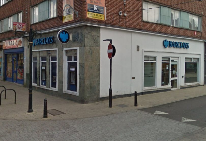 The Barclays bank branch on Market Street in Oakengates will close in April. Photo: Google Street View