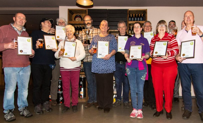 Salopian Brewery has collected 9 awards from the West Midlands Branch of CAMRA