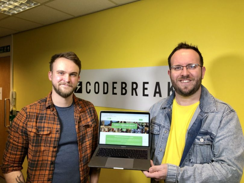 Codebreak Digital Account Executive, Fergus McKeown and Co-founder, Joel Stone