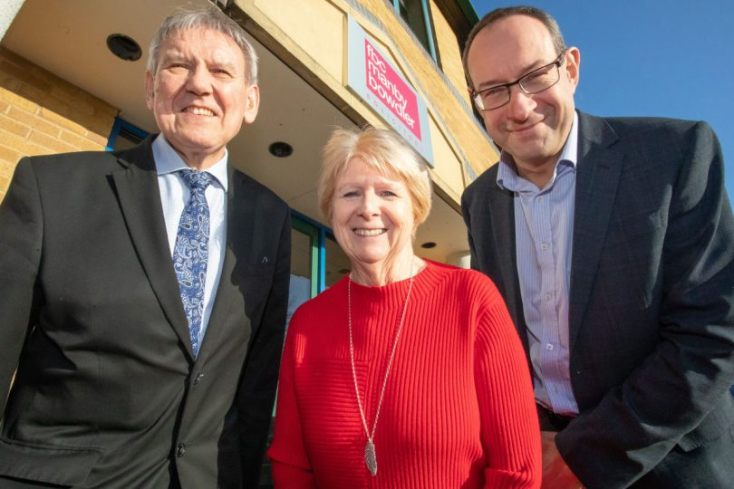 David Gallagher, Sue Gallagher and Neil Lloyd, FBC Manby Bowdler's Sales Director