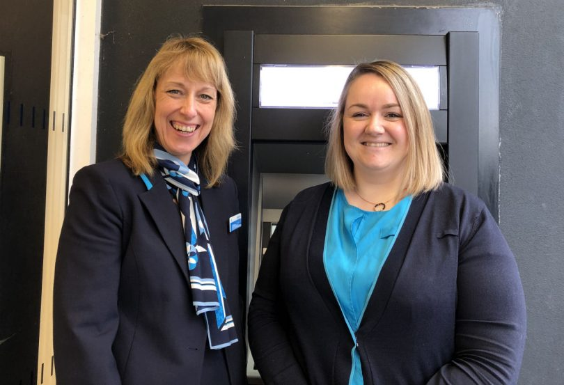 Helen Stones and Leah Wilkinson of Barclays