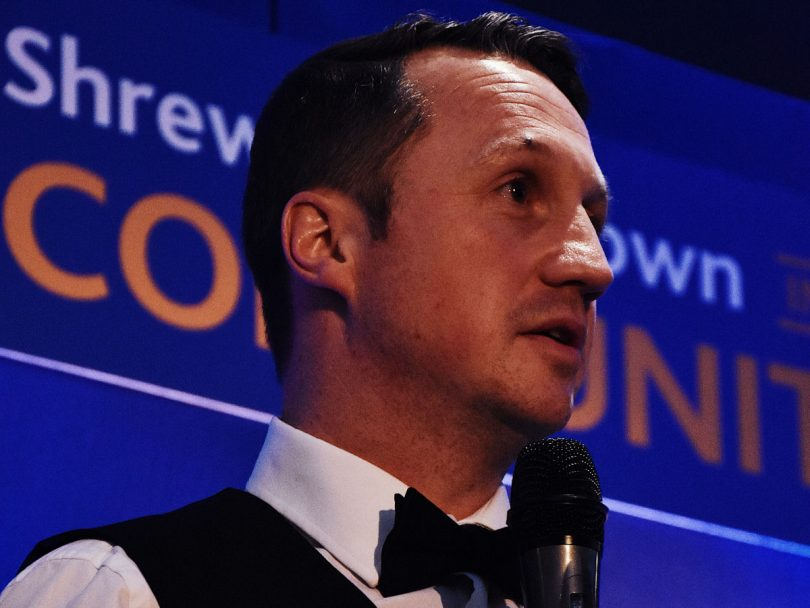 Jamie Edwards, CEO at Shrewsbury Town in the Community