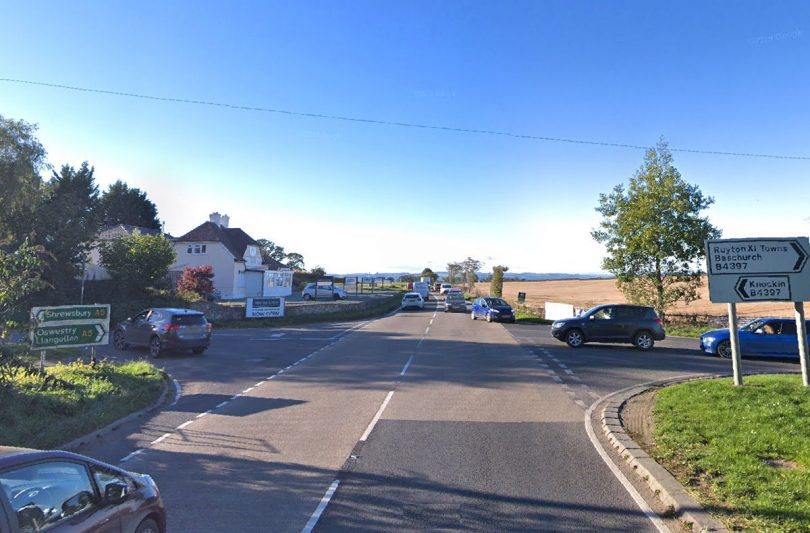 The collision happened on the A5 at the Shotatton Crossroads. Photo: Google Street View