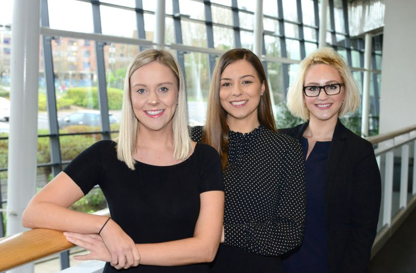 Jade Lawley, Zoe Wyatt and Katherine White have joined the team at Telford International Centre