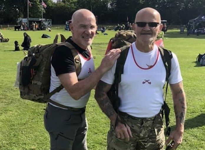 Former army colleagues Charles Wilkinson and Richard Salmon have signed up to complete the formidable Fan Dance to raise money for Severn Hospice