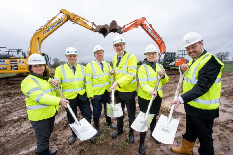 Work has begun to create A world leading agri-tech hub on the edge of Newport. Photo: Telford & Wrekin Council