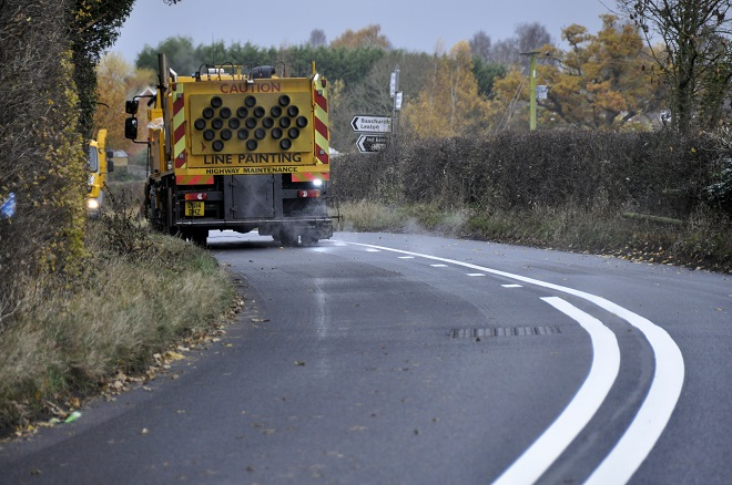 Twenty six roads in the county will be resurfaced before the end of March. Photo: Shropshire Council