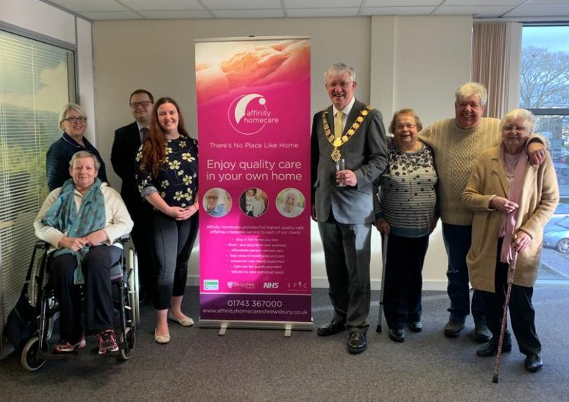 The Mayor of Shrewsbury to officially open the office alongside the office team, care staff and some of Affinity's clients
