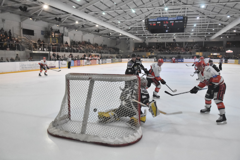 Dominik Florians shot hits the back of the net. Photo: Steve Brodie