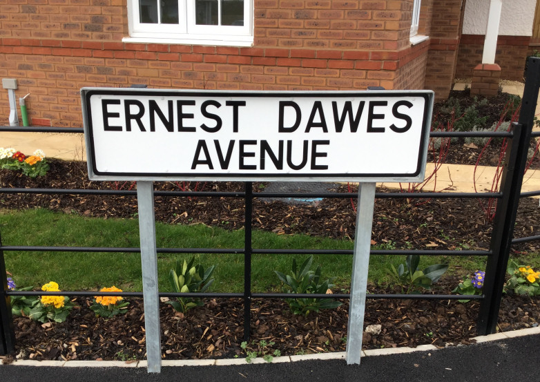 Telford & Wrekin Council's street naming team have selected Ernest Dawes Avenue as the name of the road, which is just off Castle Farm Way. Photo: Telford & Wrekin Council