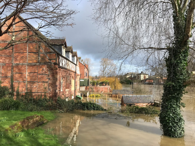 Homes and businesses across Shropshire have been flooded. Photo: Chris Pritchard