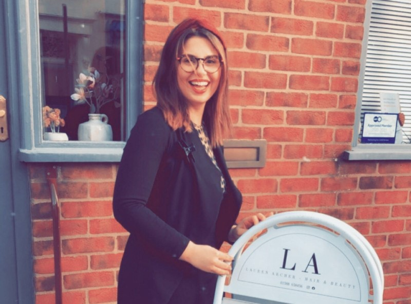 Lauren Archer has opened her own hairdressing salon called LA Hair and Beauty