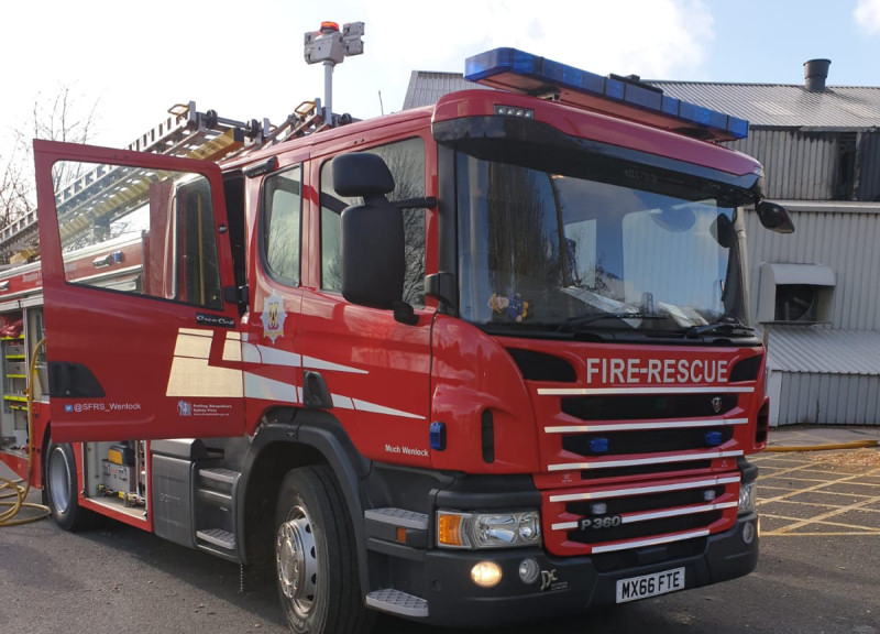Five fire appliances were sent to deal with the incident. Photo: @SFRS_Wenlock