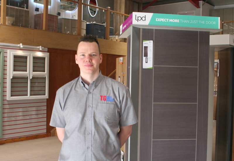 TG doors consultant, Martin Steele, in the Bridgnorth showroom