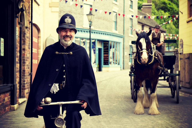 Guy Rowland, the Victorian 'policeman', at Blists Hill