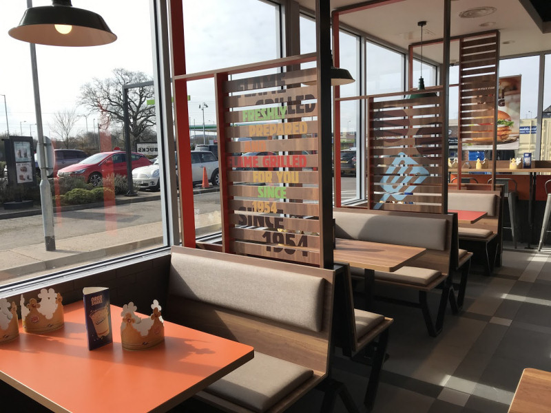 The new look restaurant is one of only a few in the UK to have adopted a truly American feel