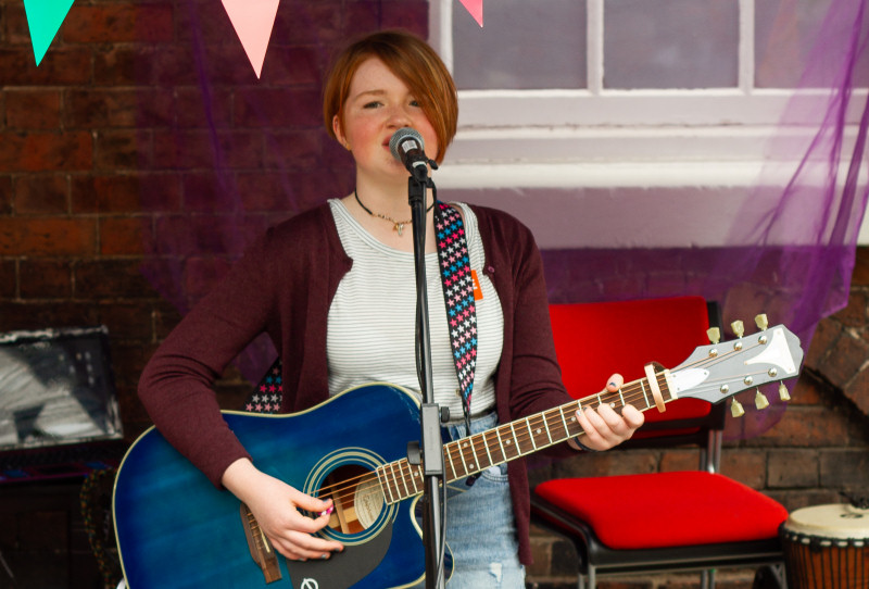 Guitarist Ruby Allen has previously been involved in musical projects at the arts centre