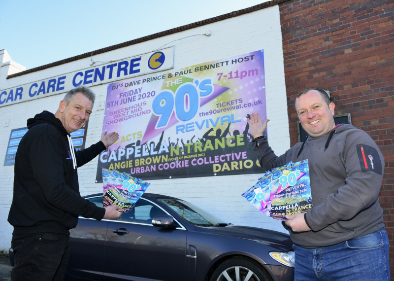 Paul Bennett and Dave Prince launching the 90s Revival event