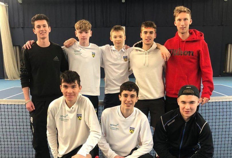 Shropshire's boys team at Edgbaston, back from left: Matt Lee (assistant captain), Matt Weaver, Roan Jones, Tom Loxley, Luke Henley (captain); front: Jacob Rogers, Tomas Cores Birch, Will Abbatt