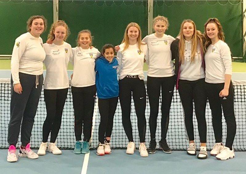 Shropshire's girls team at Ellesmere College, from left: Amy Dannatt, Amy Dean, Clara Hill, Imani Shah, Alexandra Strauss, Tamzin Pountney, Imogen Dudson, Amy Humphries