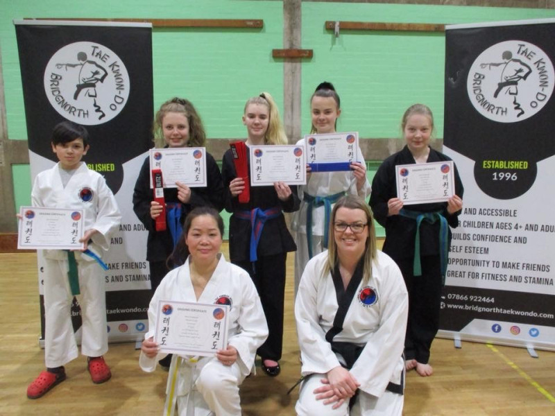 Pictured at their base at Oldbury Wells School are, back - J Baker, Evie Dennis, Ellie Yeomans, Daisy Watkins, Lucy Edwards, and front - Thanh Dang and Anna Bradford. Also successful but not pictured due to temporary closure of the club - Becky Peters, Jessie Childs, Sally Compson-Lea, Jessica Compson-Lea, Harry Lea, Lewis Crook, Tom Hardwidge