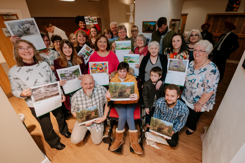 Winners at the 2020 calendar exhibition at Telford College