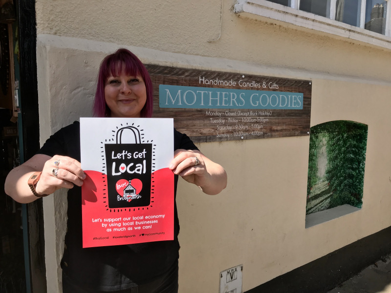 Dawn Jones of Mothers Goodies, Waterloo Terrace, one of the businesses promoting the 'Let's Get Local' campaign