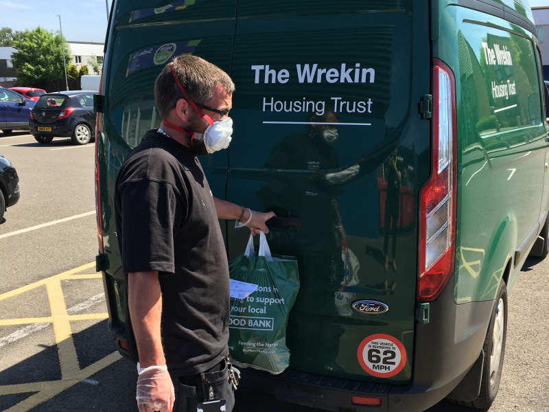 Wrekin employee loading the van for the deliveries