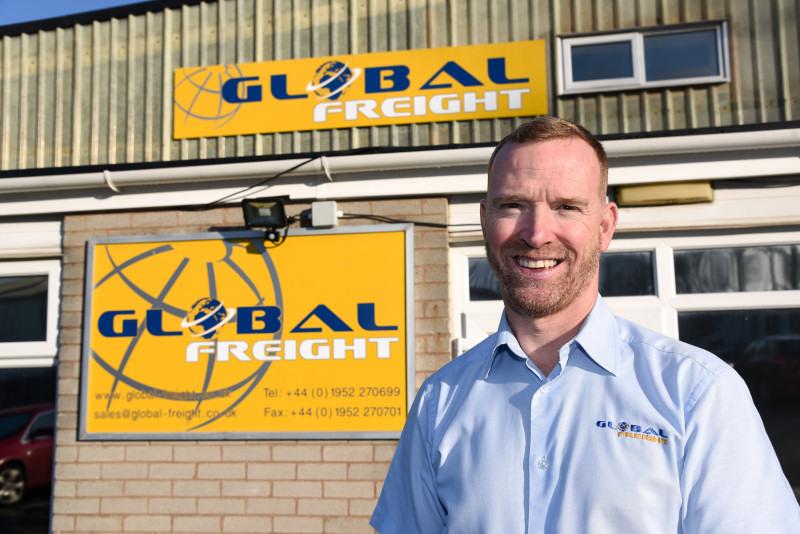 Anton Gunter, Managing Director of Telford-based Global Freight Services