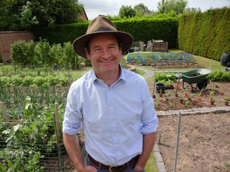 Hugh's channel, Shropshire Kitchen Garden, features his tips on how to grow fruit and vegetables from home all year-round