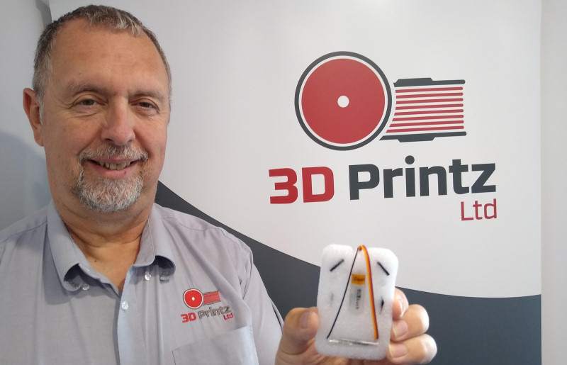 3D Printz director Peter Roberts with the BLTouch product