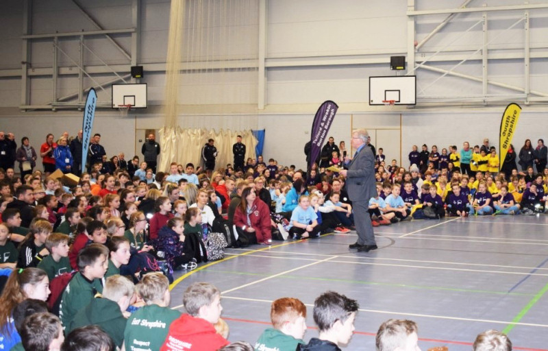 The opening ceremony of a previous Shropshire Homes School Sport Festival
