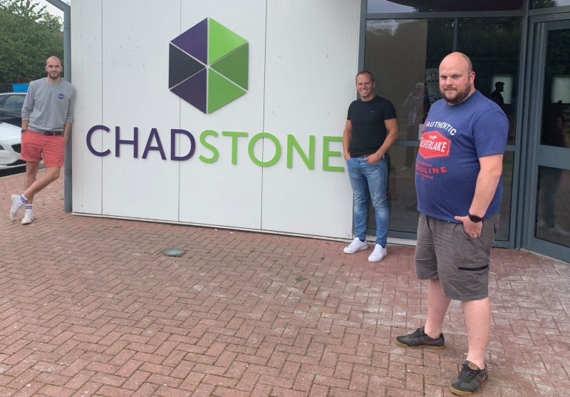 Owners of ChadStone Alex Stone and Rob Chadderton with Dave Leddington, manager