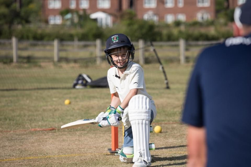 Coaching is being given on a 1:1 basis in line with both government and ECB guidelines. Photo: Jo Edwards Photography