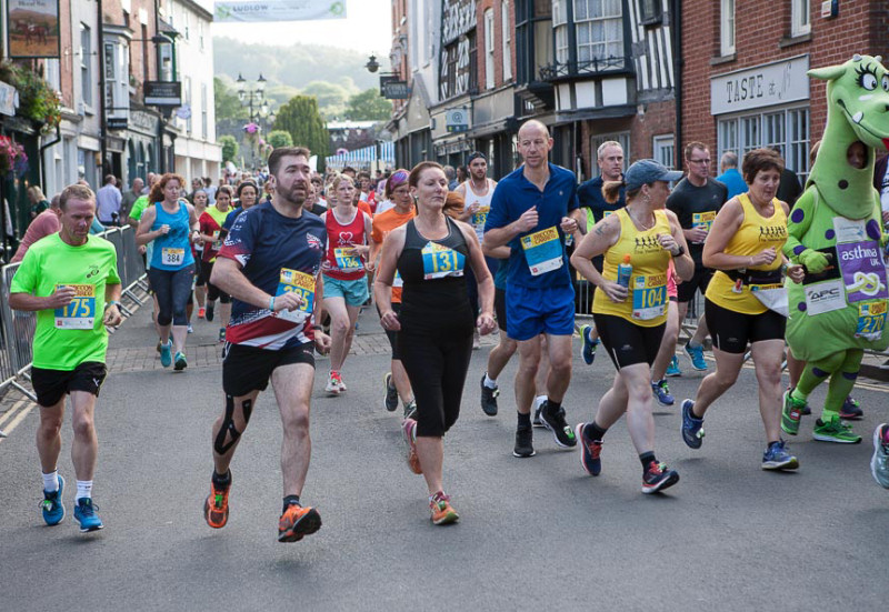 Runners taking park in the 2019 Ludlow 10. Photo: David Woodfield