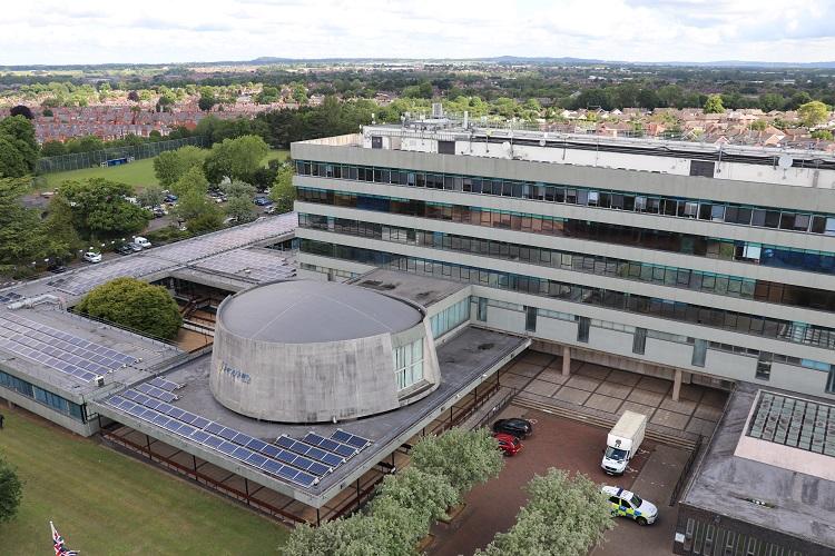 Shropshire Council's Shirehall headquarters in Shrewsbury. Photo: Shropshire Council