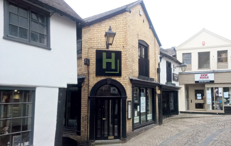 Situated on the corner of the cobbled Fish Street and Grope Lane, the restaurant occupies a desirable location