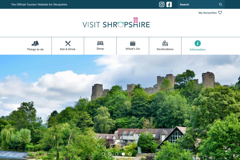 The new Visit Shropshire website