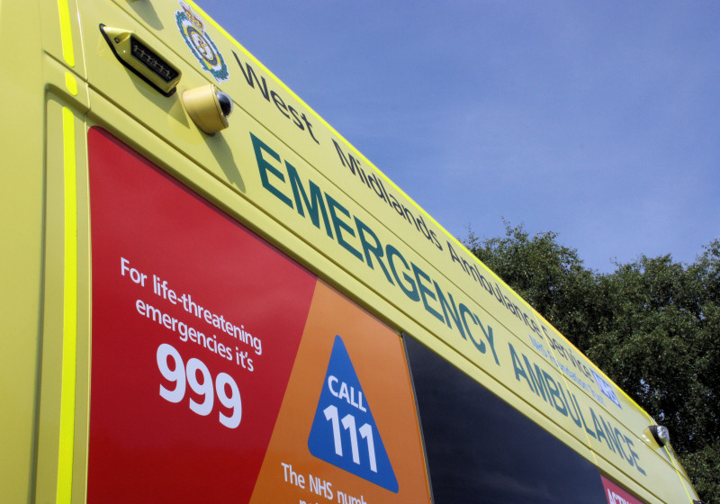 West Midlands Ambulance Service attended the incident. Photo: WMAS