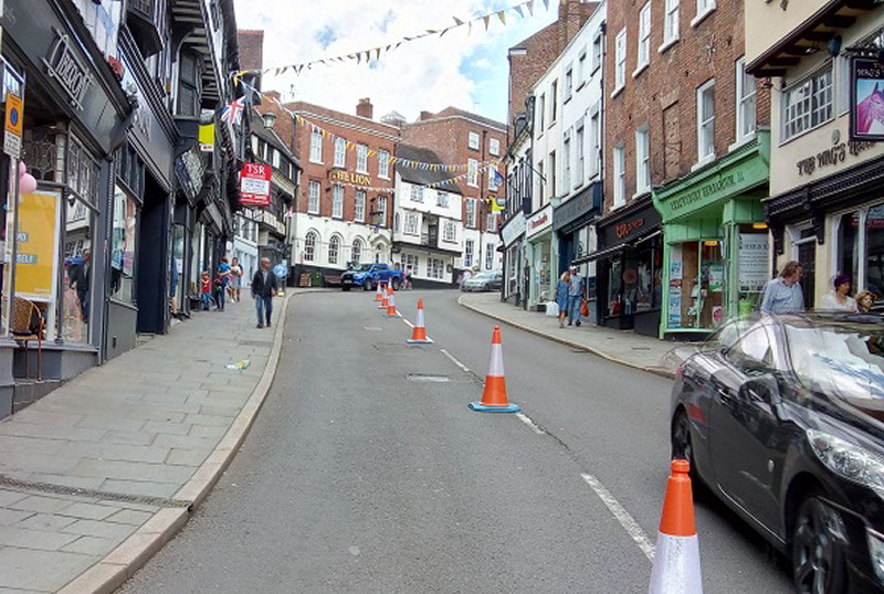 Wyle Cop will be open to outward bound traffic only. Photo: Shropshire Council