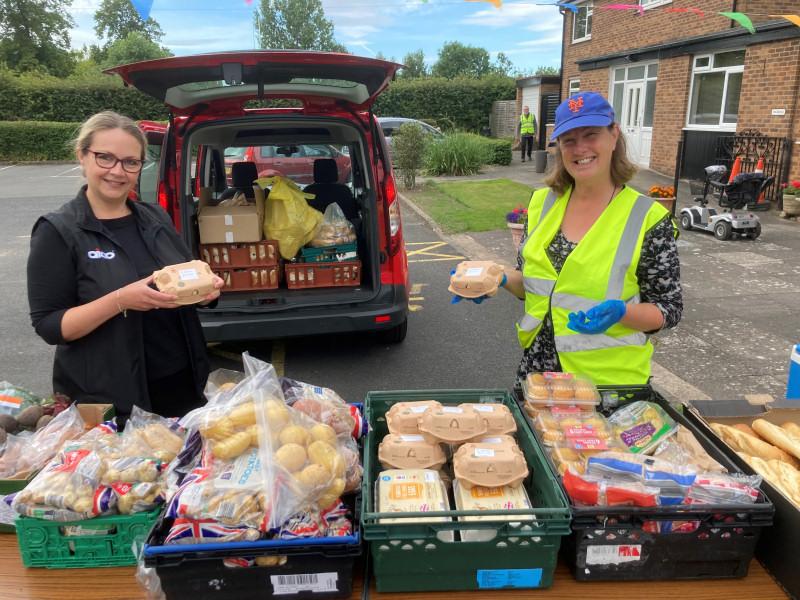 AICO's Jane Pritchard and Ali Thomas, Shrewsbury Food Hub Co-founder