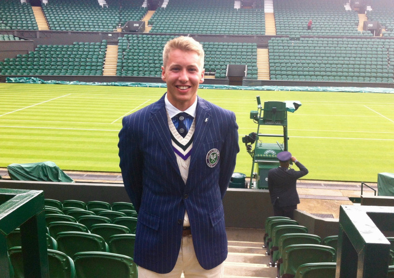 Alex Cleland from Shifnal, the region's official of the year, at Wimbledon