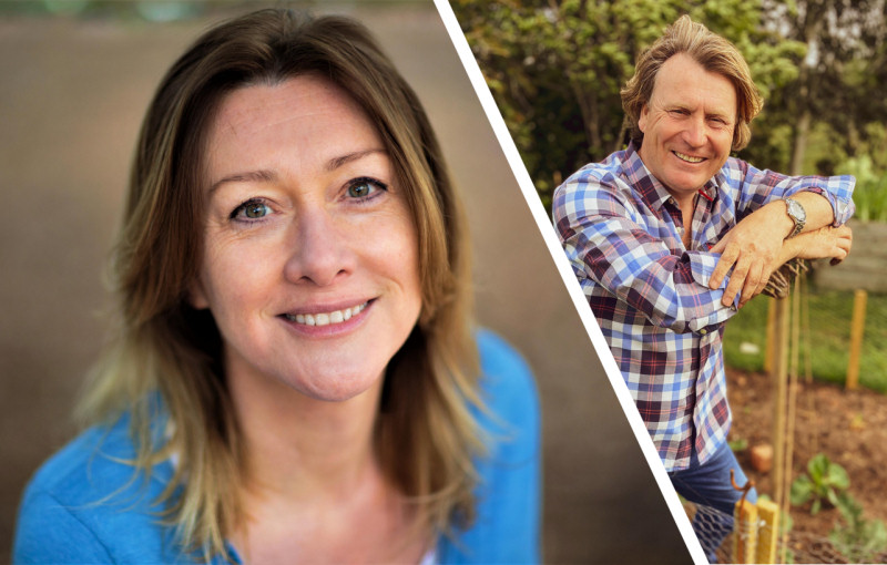 Celebrity gardeners Penny Meadmore and David Domoney are taking part in the virtual event