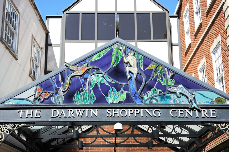The Darwin Shopping Centre in Shrewsbury