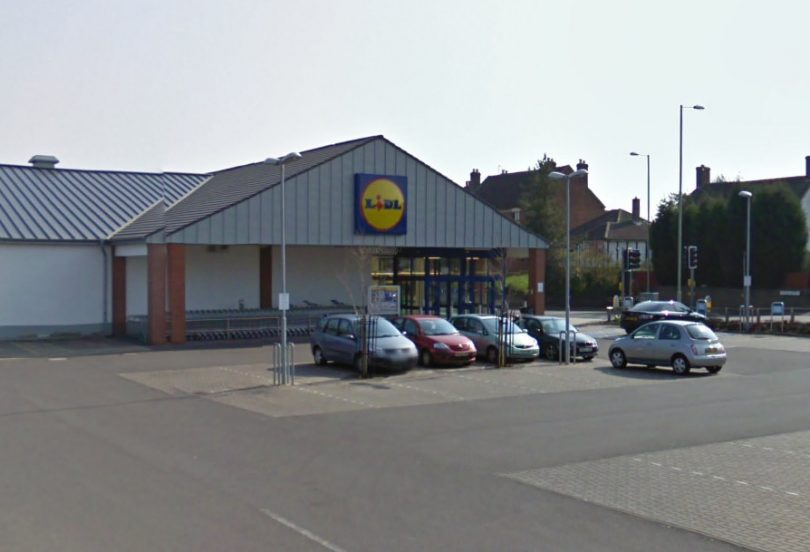 The incident took place in the car park of Lidl in Hadley, Telford. Image: Google Street View